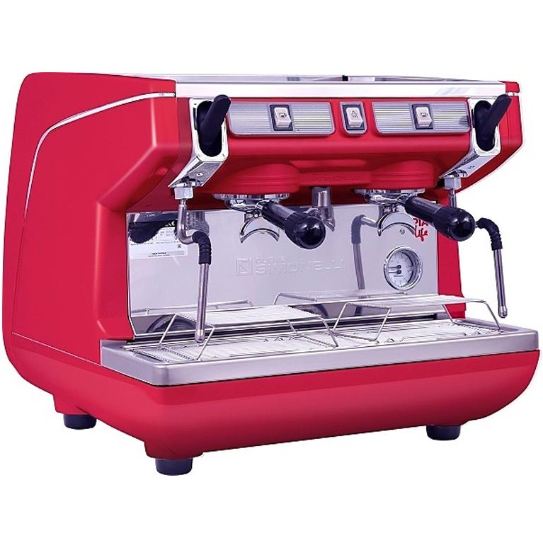 Кофемашина Nuova Simonelli Appia Life Compact 2Gr S 220V black, white, red+economizer+high groups