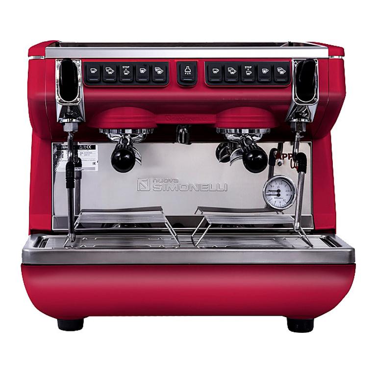 Кофемашина Nuova Simonelli Appia Life Compact 2Gr V 220V black, white, red+economizer+high groups